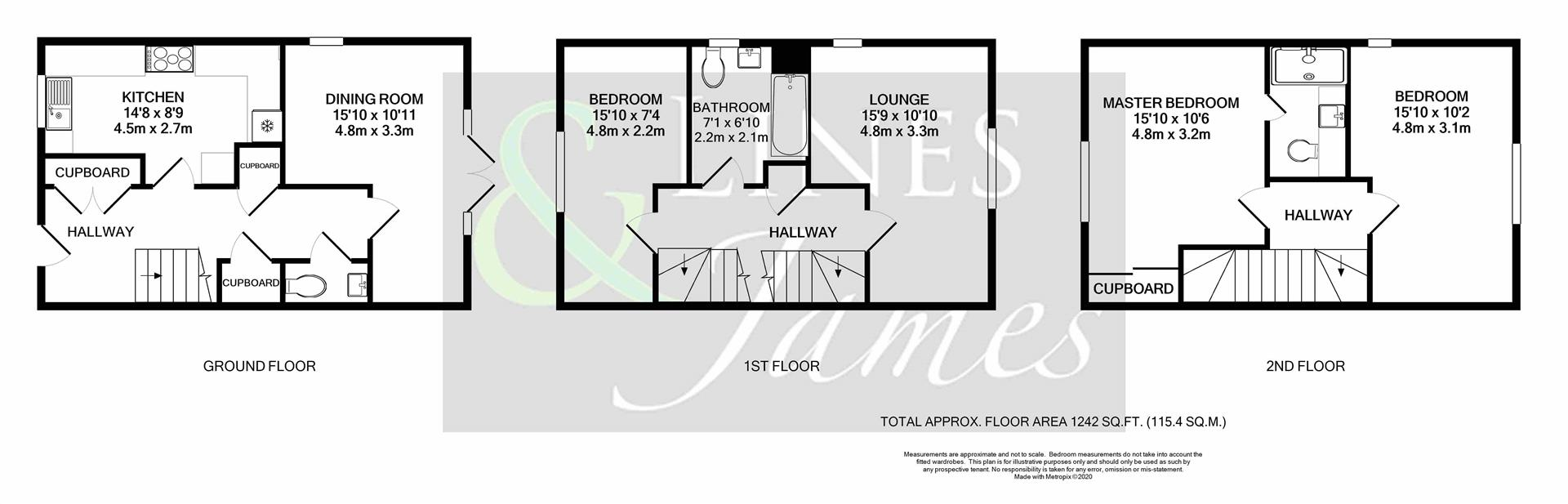 Floorplan for King Edward Close, Horsham